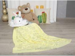 Плед детский Сердечко ОТМ Дизайн 2586371 желтый 90х120 см
