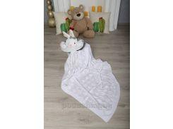 Плед детский Ромб ОТМ Дизайн 2586380 белый 90х120 см