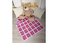 Плед детский ОТМ Дизайн 2586388 Человечки малиновый 80х120 см