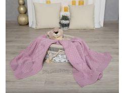 Плед детский ОТМ Дизайн 2586393 Pretty лиловый размер 100х80 см