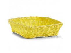 Корзина для хлеба Zeller 25х25x7 см квадратная G18071 желтая