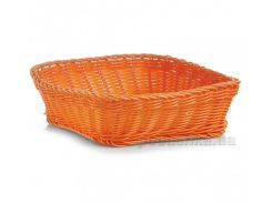 Корзина для хлеба Zeller 25х25x7 см квадратная G18073 оранжевая