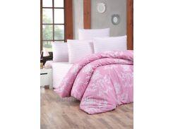 Постельное белье Lighthouse ранфорс Gloria розовое Двуспальный евро комплект