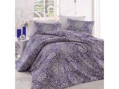 Постельное белье Arya ранфорс Rozi голубое Полуторный комплект