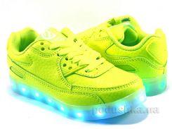 Кроссовки детские Clibee LED USB K158 green-lampa 35