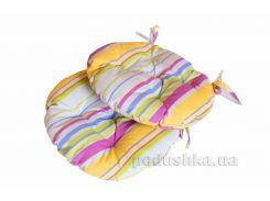 Подушка на стул круглая Прованс Stripe диаметр 40 см