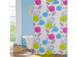 Шторка для ванной комнаты МД Colorful flowers NJ10108 180х180 см