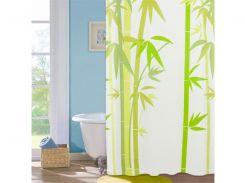 Шторка для ванной комнаты МД Green Bamboo NJ10109 180х180 см