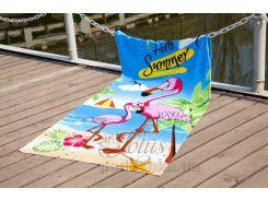 Полотенце пляжное Lotus Flamingo 75х150 см