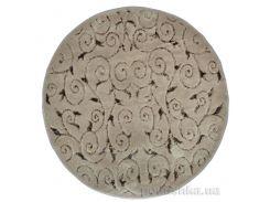 Коврик круглый для ванной Arya Sarmasik 1380031 коричневый диаметр 120 см