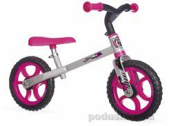 Детский металлический беговел, розовый Smoby 770201
