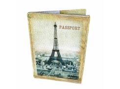 Кожаная обложка для паспорта Devays Maker Ах Париж 01-01-063