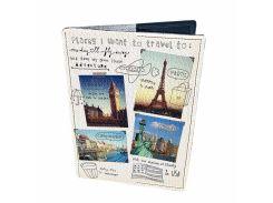 Кожаная обложка для паспорта Devays Maker Путешествия 01-01-071