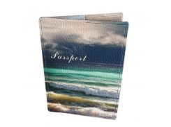 Кожаная обложка для паспорта Devays Maker Море 01-01-140
