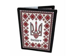 Кожаная обложка для паспорта Devays Maker Украина вышитая 01-01-184