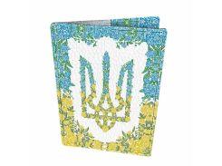 Кожаная обложка для паспорта Devays Maker Украина цветущая 01-01-191