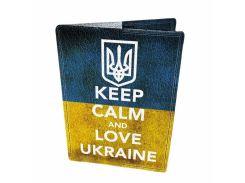 Кожаная обложка для паспорта Devays Maker Люби Украину 01-01-194