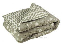 Одеяло зимнее шерстяное в бязи Руно Комфорт-плюс Зигзаг 200х220 см