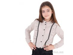 Блузка для девочки Sophie Timbo B033181 бежевая 30