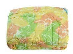 Одеяло зимнее шерстяное Руно в бязи цветное 140х205 см молочное
