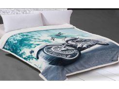 Плед Alltex микровелюр 3D Motorcycle 150х200 см