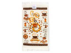 Махровое кухонное полотенце Izzihome Горячий кофе 40х60 см