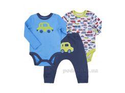 Комплект для мальчика Bembi КП202 интерлок голубой с синим 92