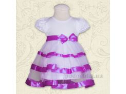 Платье с коротким рукавом Маленькая леди Бетис кулир лиловый 74