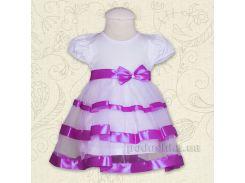 Платье с коротким рукавом Маленькая леди Бетис кулир лиловый 98