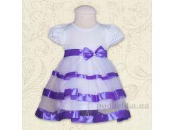 Платье с коротким рукавом Маленькая леди Бетис кулир фиолетовый 86