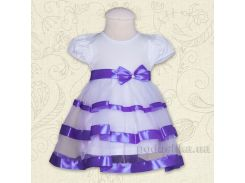 Платье с коротким рукавом Маленькая леди Бетис кулир фиолетовый 98