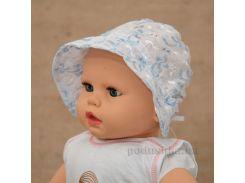 Панамка для малышей Сонечко Бетис шитье голубое Размер 62