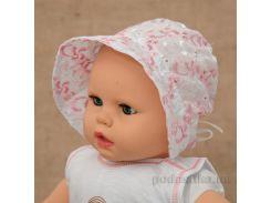 Панамка для малышей Сонечко Бетис шитье розовое Размер 56