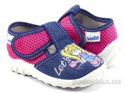 Детские тапочки Даша Waldi 189/60-621 джинс розовая сетка Девочка 25