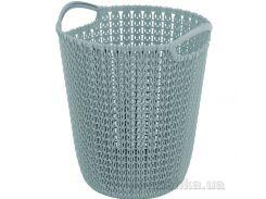 Корзина для бумаг Curver Knit 7л 03678 цвет синий
