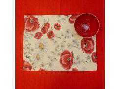 Салфетка гобеленовая Villa Grazia Маковый цвет салфетка 35х45 см