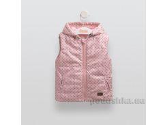 Жилет детский утепленный Bembi ЖЛ33 плащевка с рисунком 92 розовый с рисунком