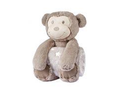 Плед детский с игрушкой Biderlack Play & Dream Set monkey 75х100 см