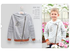 Кофта для мальчика Bembi КФ152 серый меланж 110