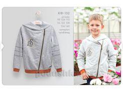 Кофта для мальчика Bembi КФ152 серый меланж 128