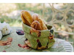 Гобеленовая корзинка для хлеба Emilia Arredamento Курочка Ряба
