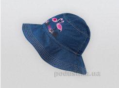 Шляпка для девочки Bembi ГУ107 джинсовая голубая 74 обхват головы 47