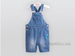 Полукомбинезон детский джинсовый Bembi ПК147 голубой 74