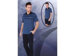 Пижама мужская Bone 4393 laci синяя XXL