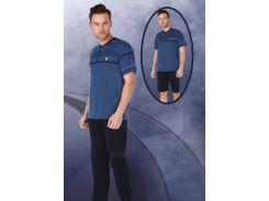 Пижама мужская Bone 4392 laci синяя XXL