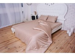 Комплект постельного белья TM Nostra Сатин Wisper pink Active гладкокрашеный Двуспальный евро комплект