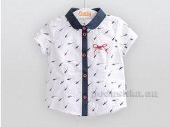 Блузка для девочки Bembi РБ84 вуаль белая 122