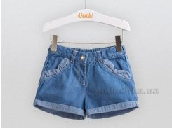 Шорты джинсовые для малышей Bembi ШР462 голубые 80