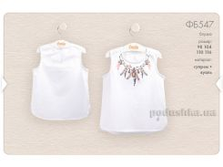 Блузка для девочки Bembi ФБ547 белая 104