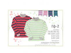 Гольфик в полосочку для мальчиков Бемби ГФ2 шардон-интерлок 74 цвет голубой